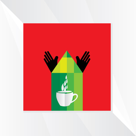coffee cup vector: pencil with coffee cup vector
