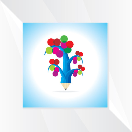 colorful tree: creative colorful tree vector Illustration