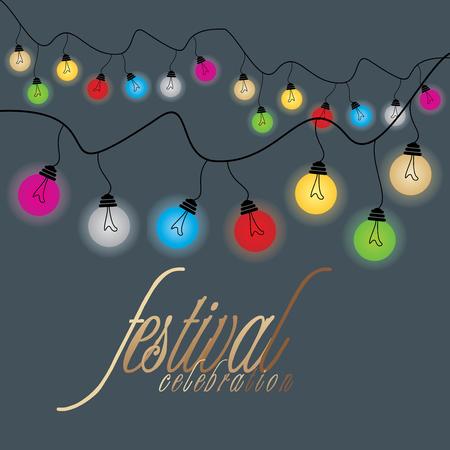 festival of lights: creative festival lights vector Illustration