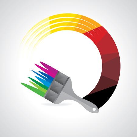 painting brush: creative painting brush vector