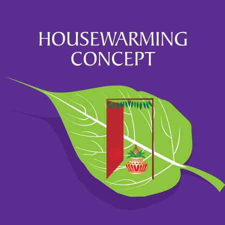 marathi: housewarming concept vector