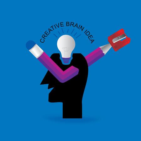 éles: kreatív elme markáns koncepció Illusztráció