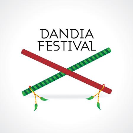 ramayan: creative navratra festival with dandia vector Illustration
