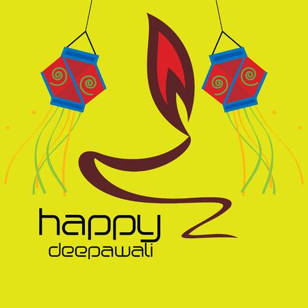 deepawali: creative deepawali concept with oil lamp