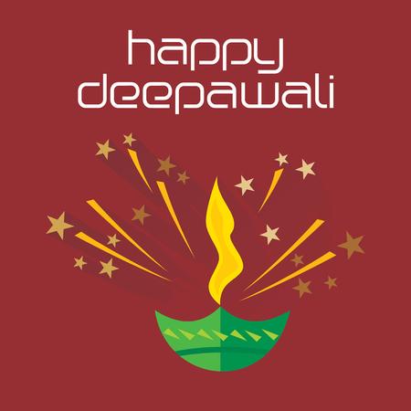 deepawali: creative deepawali concept vector