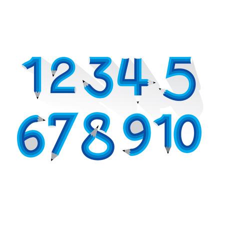 numeric: creative numeric number created pencil