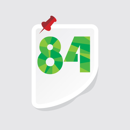 numeric: creative abstract numeric number 84 vector Illustration