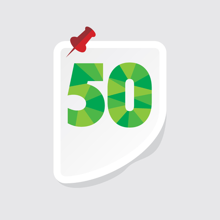 number 50: creative abstract numeric number 50 vector