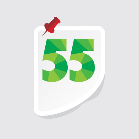 numeric: creative abstract numeric number 55 vector Illustration