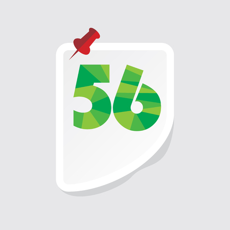 numeric: creative abstract numeric number 56 vector Illustration