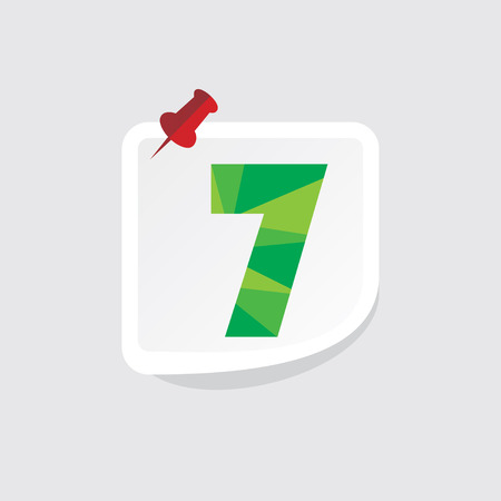 numeric: creative abstract numeric number 7 vector Illustration