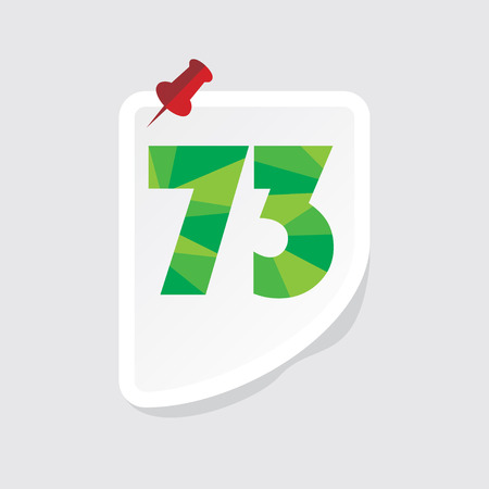 numeric: creative abstract numeric number 73 vector Illustration