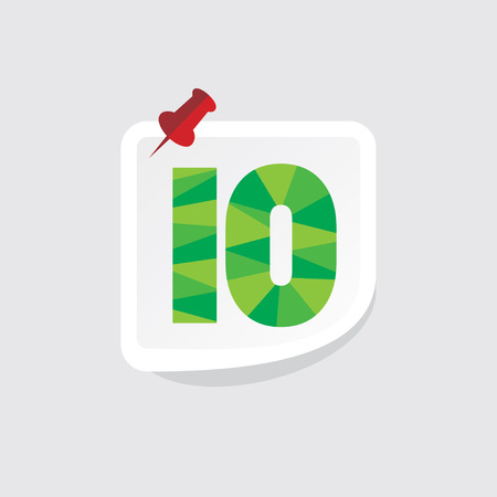 number 10: creative abstract numeric number 10 vector