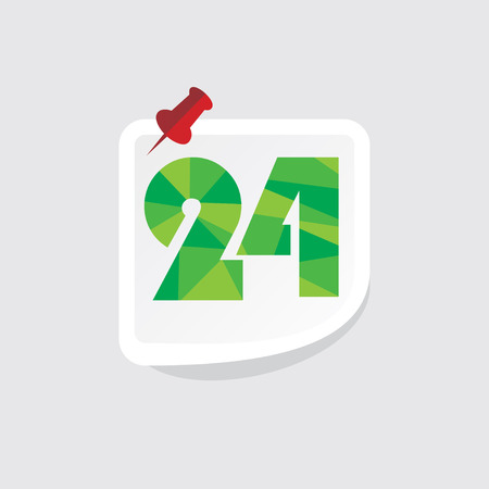 numeric: creative abstract numeric number 24 vector Illustration