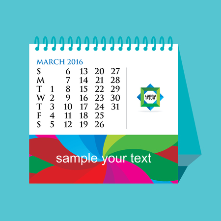 calendario da tavolo: creative desk calendar concept vector illustration