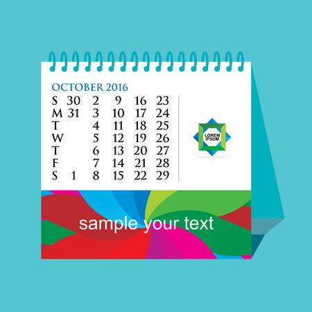 desk calendar: creative desk calendar concept vector illustration