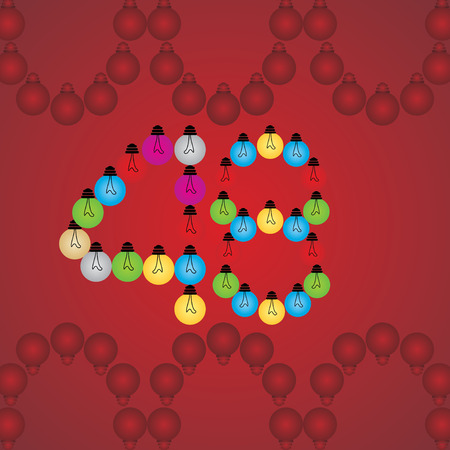 numeric: creative 48 numeric number created with bulb Illustration