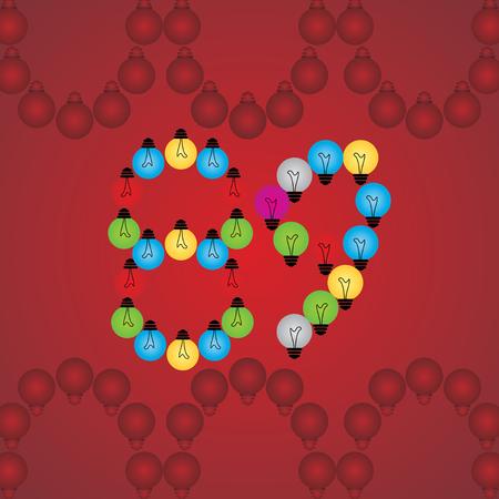 numeric: creative 89 numeric number created with bulb Illustration