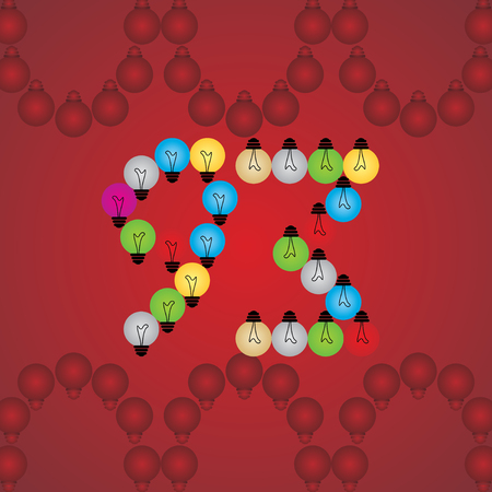 numeric: creative 93 numeric number created with bulb