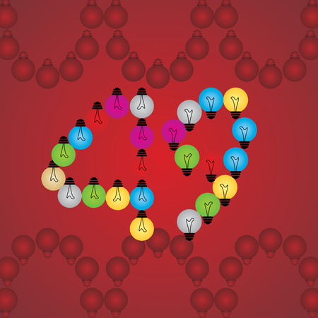 numeric: creative 49 numeric number created with bulb