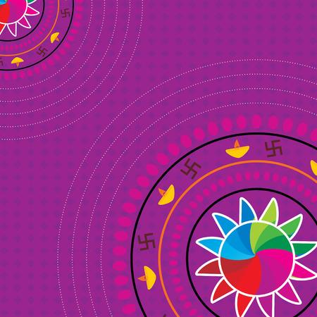 rangoli: creative diwali rangoli concept vector