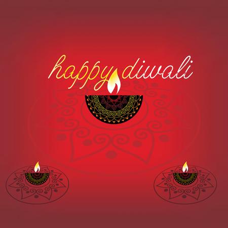 rangoli: creative diwali rangoli wih lamp vector