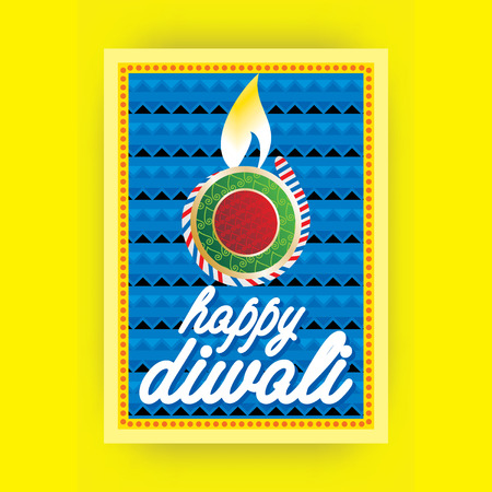 diwali: creative diwali greetings card concept Illustration