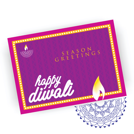 greetings card: creative diwali greetings card concept Illustration