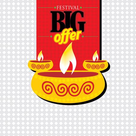 diwali: creative diwali festival concept vector