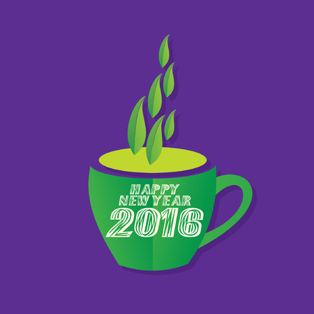 green tea cup: happy new year with green tea cup