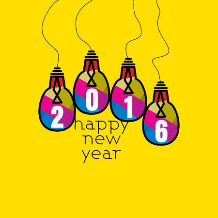 happy new year vector Ilustração