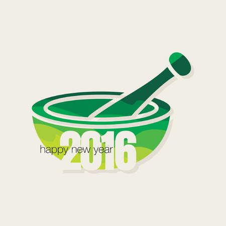 mortar and pestle: happy new year with mortar and pestle