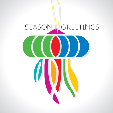 greeting season: season greeting vector Illustration
