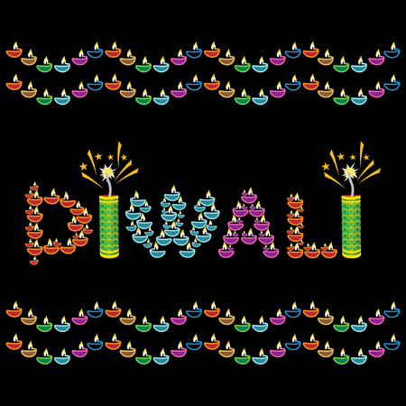 diwali greeting concept with lamp