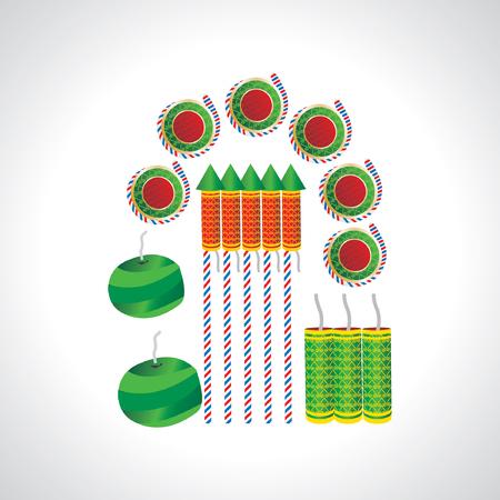 skyrocket: crackers diwali concept Illustration