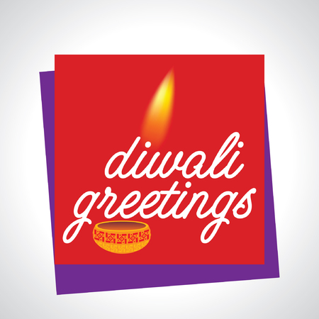 diwali greetings concept with lamp vector