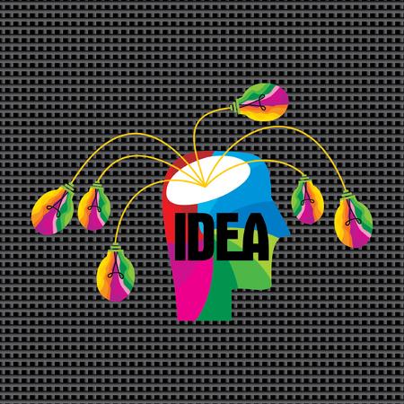 creative brain: creative idea concept with human brain