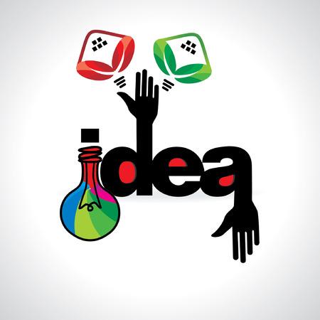 ideas: creative idea concept vector illustration Illustration