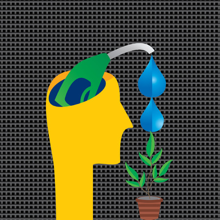 creativity and innovation: water drop with nozzle vector Illustration