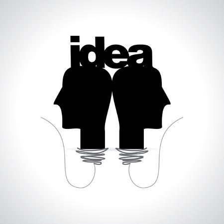 science symbols: creative idea with human head vector
