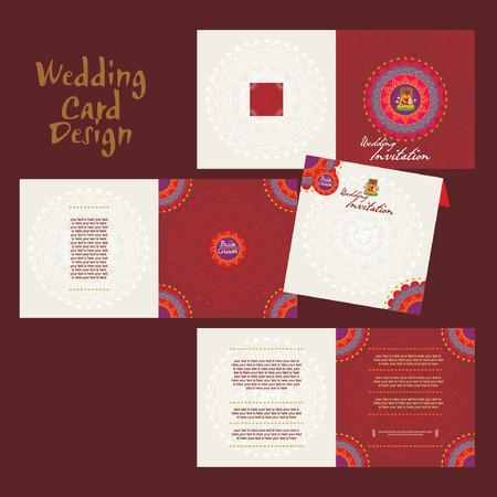 wedding bride: indian wedding card concept vector