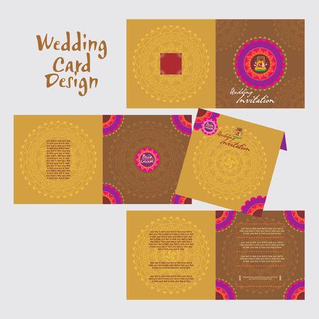 marriage invitation: indian wedding card concept vector