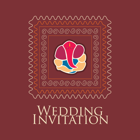 background designs: indian wedding card vector Illustration