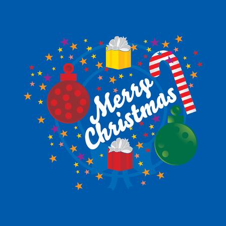 25 december: merry christmas celebration concept vector