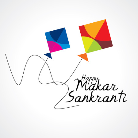 kite flying: creative concept of Makar sankranti festival