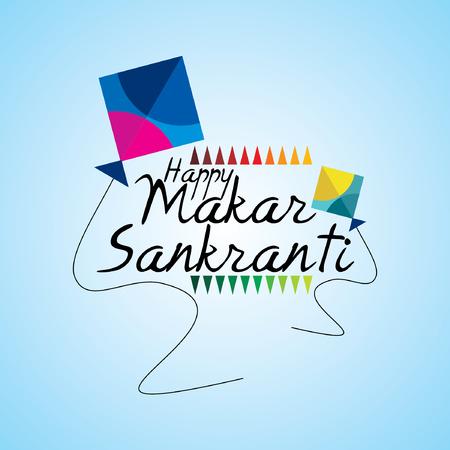 creative concept of Makar sankranti festival