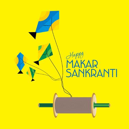 papalote: concepto creativo de Makar Sankranti Festival