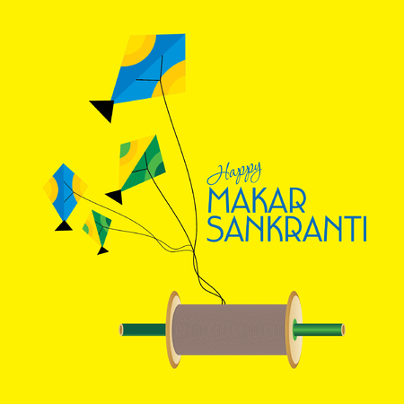 flying kite: creative concept of Makar sankranti festival