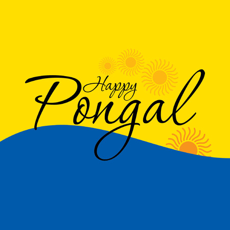 pongal: creative Indian festival pongal Illustration