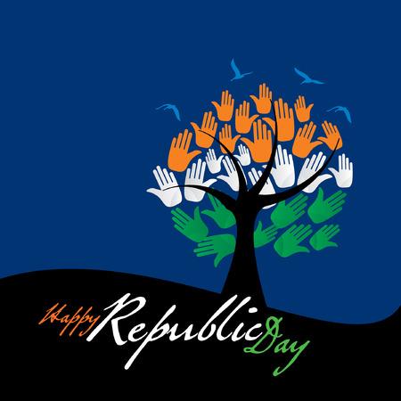 india flag: creative Indian republic day concept